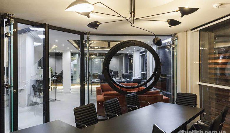 Воплощение световых решений в стиле Loft в офисе компании Паритет